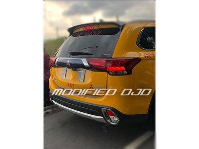 DJD20011005三菱 2017-19 NEW OUTLANDER 專用 後保桿 防滑飾條 防刮板 後護板 尾門踏板