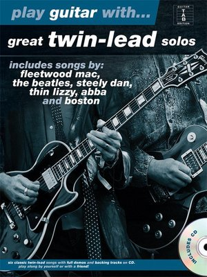 [反拍樂器]PLAY GUITAR WITH... GREAT TWIN-LEAD SOLOS 進口吉他教材