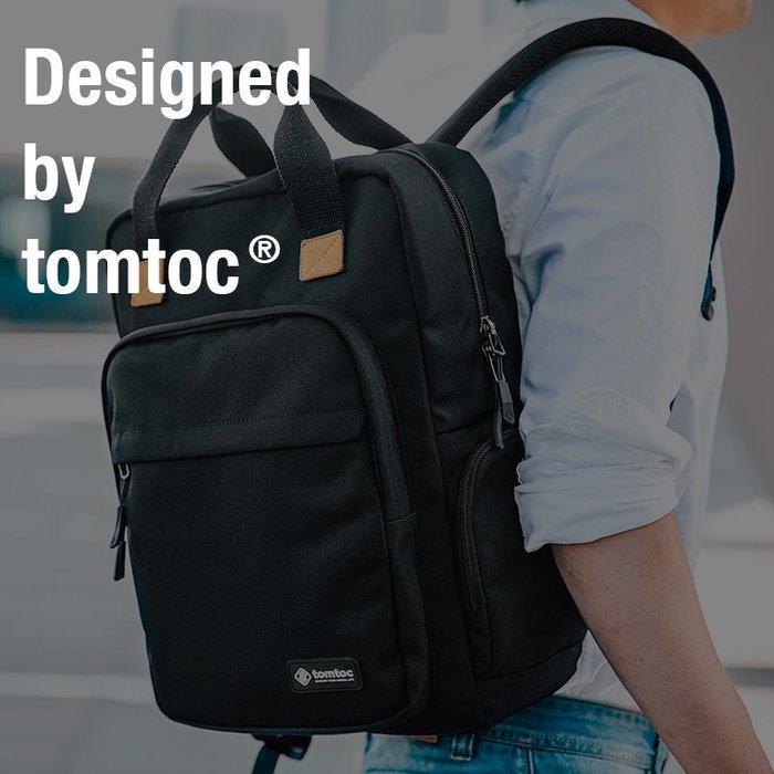 創意 旅行必備 美國tomtoc男雙肩包簡約通勤商務時尚15.6寸牛津運動防水電腦背包