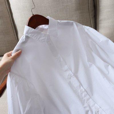 魔薇家 出口美單 炒美泡泡袖 21春季女士寬松休閒全棉襯衫 襯衣
