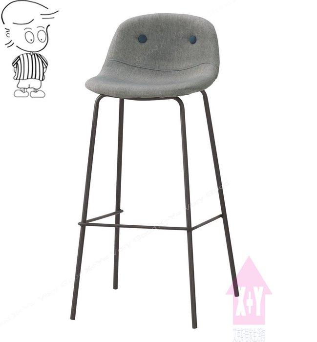 【X+Y時尚精品傢俱】現代吧檯椅系列-華爾斯 吧台椅(灰色布)(高).坐墊高級棉麻布.摩登家具