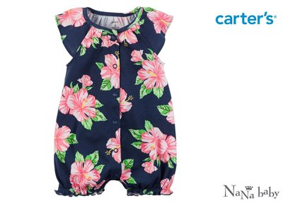 ♡NaNa Baby♡ 美國Carters 短袖連身衣- 盛夏花卉系列 #118G949