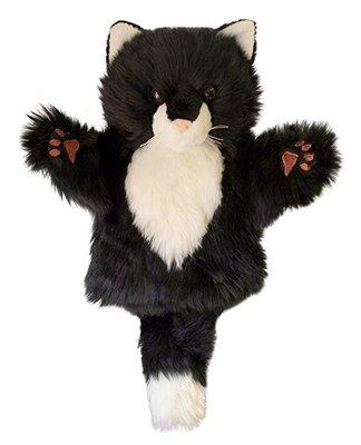 【哈狼族】The Puppet Company英國代購手偶CarPets黑白貓(Cat)手偶/說故事表演腹語道具