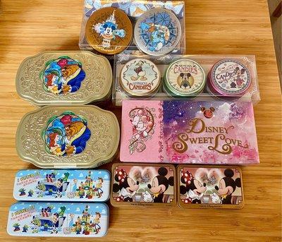 全新 日本迪士尼樂園米奇米妮玩具總動員美女與野獸糖果餅乾禮盒