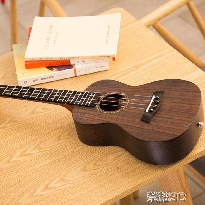 尤克麗麗 21寸23寸26寸全玫瑰木尤克里里烏克麗麗ukulele小吉他  -百利