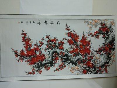 梅花圖.宣紙繪畫真跡.大幅畫作.客廳書房最宜