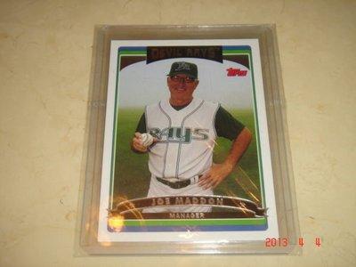 美國職棒 Cubs Manager 總教練 Joe Maddon  2006 Topps #590 球員卡