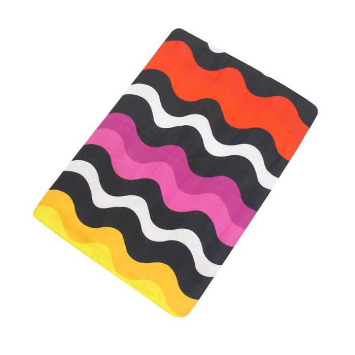 【TELITA】超細纖維日系和風海灘巾-彩紅波浪 免運