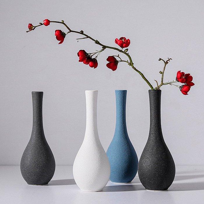 熱賣歐式磨砂陶瓷花瓶擺件小清新家居飾品餐桌客廳插花裝飾假花花器#擺件#陶瓷#北歐