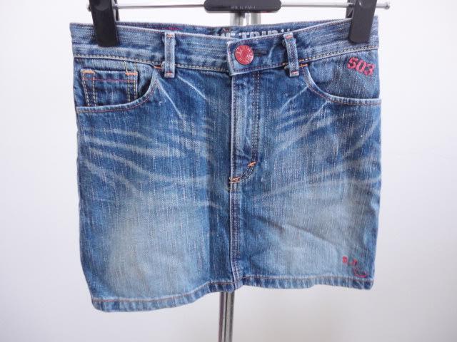 99元起標~503 BLUE TRIP(EDWIN鑀德恩)~刷色牛仔裙~藍色~SIZE:12