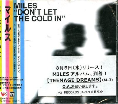 K - MILES - DON'T LET THE COLD IN - 日版 +3BONUS - NEW