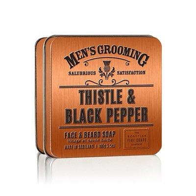 英國 Scottish Fine Soaps 男士經典洗面皂(Thistle & Black Pepper)男 洗面乳