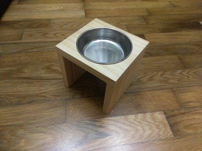 【木頭貓】手工寵物餐桌 平口寵物碗架 不鏽鋼碗 貓碗架 狗碗架 實木寵物碗架 松木貓碗架 嘉義縣