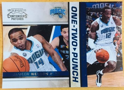 D. HOWARD J. NELSON 2010-11 CONTENDERS ONE TWO PUNCH #17 特卡