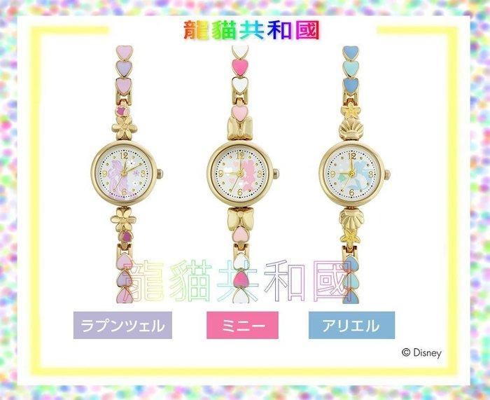 日本迪士尼Disney《Minnie米妮 粉嫩愛心手錶》鍊錶 生日情人聖誕節禮物【日本正版】