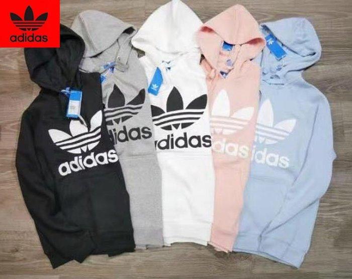 Adidas 阿迪達斯 新款三葉草運動衛衣 休閒連帽 男士套頭衫