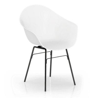 百老匯diy家具-卡納休閒椅(金屬腳-黑色)高腳椅/休閒椅/書桌椅/洽談椅/七色可選