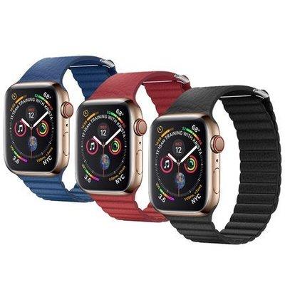 QIALINO?Apple Watch (42/44mm) 真皮製回環形錶帶 真皮錶帶 簡便拆裝耳扣,更換簡單
