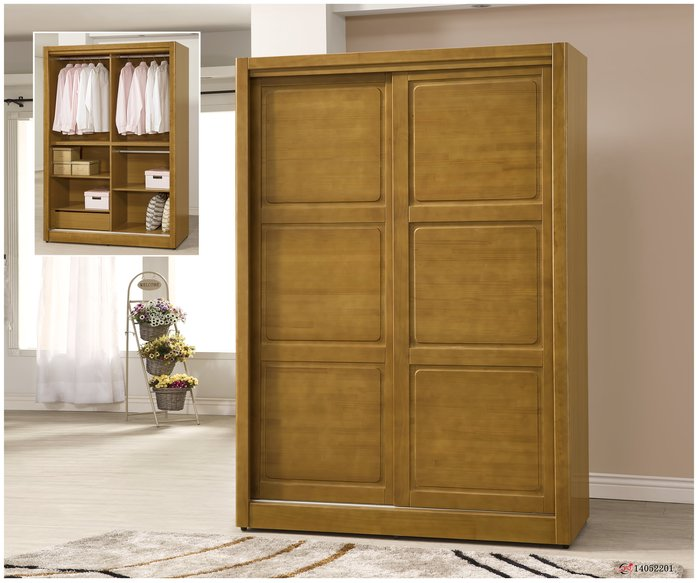 【全台家具批發網】 AL 貝雅系列 5*7尺 實木 衣櫃 (F701)  台灣製造 傢俱工廠直營特賣