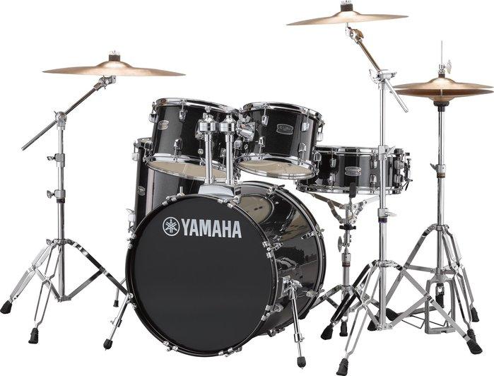 【六絃樂器】全新 Yamaha RYDEEN 黑色爵士鼓 加附鼓棒 鼓椅 地毯 / 現貨特價