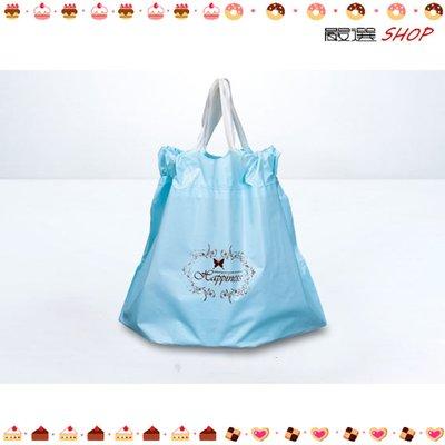 【嚴選SHOP】藍色 16~18cm 6吋乳酪盒手提袋 拉拉袋 提拉米蘇 食品袋 蛋糕袋 包裝袋 慕斯【D068】
