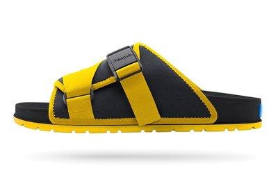 =CodE= PEOPLE FOOTWEAR LENNON CHILLER 輕量防水涼拖鞋(黑黃) NC04V3-009