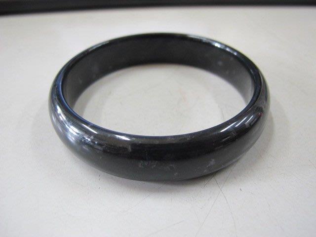 二手舖 NO.1697 (天然A貨)新疆玉 和闐玉 墨玉 手鐲 手環 玉鐲 玉環