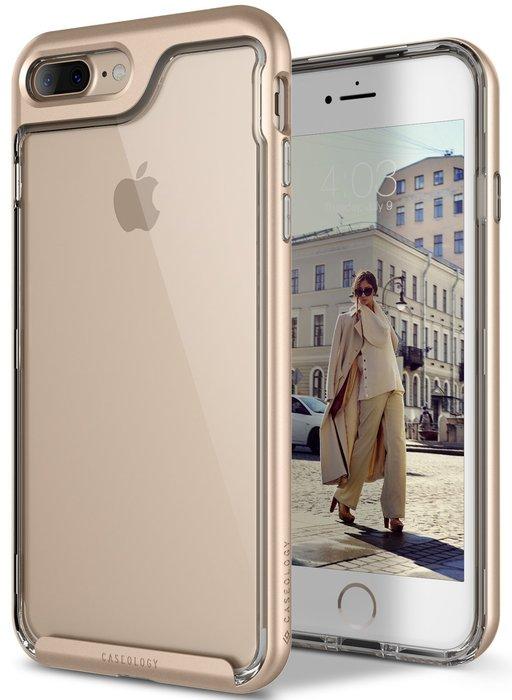 全新正品 Caseology Skyfall iPhone 7 Plus 防摔 手機殼 矽膠 保護套 金邊框 透明