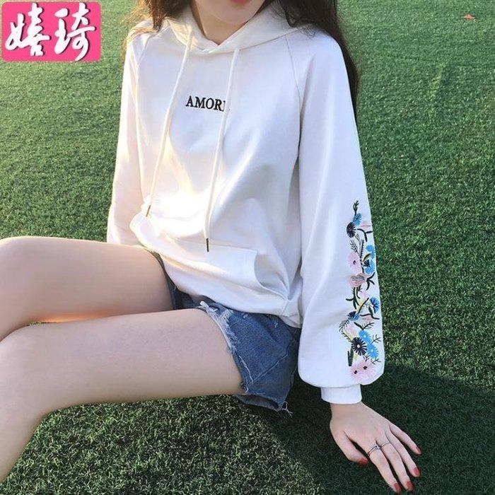 女2018春秋新款韓版寬鬆白色慵懶學生外套上衣