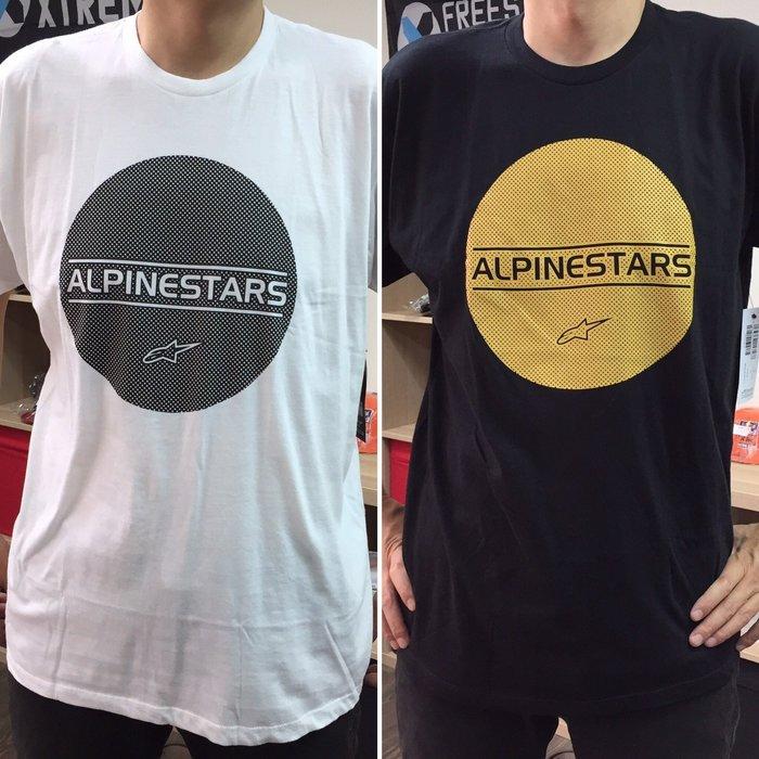 [阿菊潮流工作室] Alpinestars Black Rounder T-Shirt 黑色 白色 任您挑選 [免運費]