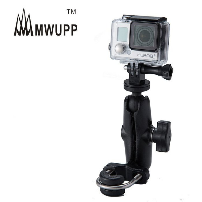 【現貨】GOPRO MWUPP 運動相機架 五匹 機車 重機 後視鏡 橫桿 (非 防水 手機包 RAM mounts)
