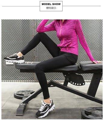 運動褲女-彈力緊身假兩件健身褲女透氣速干跑步運動瑜伽服七九分長褲