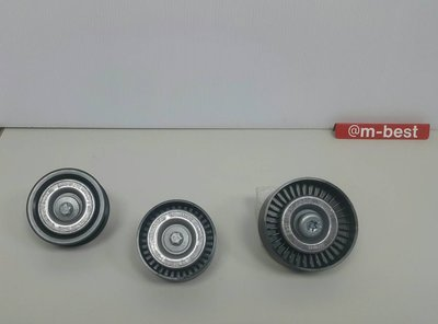 W204 M271 CGI 2009- 皮帶惰輪 (固定平面+固定有溝+調整座上 3顆套餐) 0002021619
