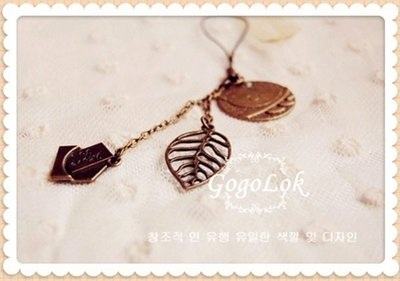 GogoLok【NS55】夏日小清新  復古 古銅小馬 手機吊飾 掛飾