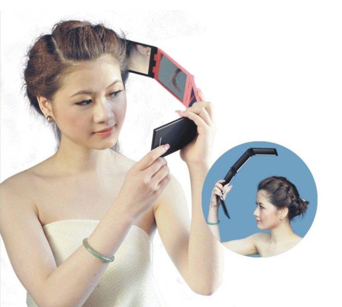 四面折疊鏡 化妝鏡 美容鏡 便攜鏡 隨身鏡 可後視 折疊多角度