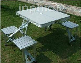 INPHIC-鋁合金連體折疊桌椅 沙灘桌椅 連體桌椅 休閒桌 便攜桌J戶外桌椅