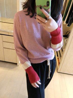 《巴黎拜金女》AK金線亮絲撞色羊毛針織衫上