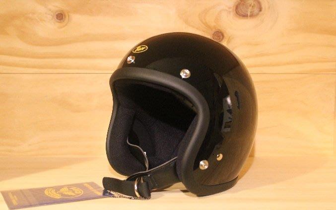 (I LOVE樂多)BUCO METALELAKE 亮光黑色4/3復古安全帽(史上最悠久經典的安全帽品牌)