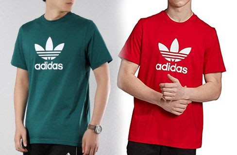 【Dr.Shoes】Adidas Original Tee 男裝 棉質 短袖T恤 綠EJ9677紅EJ9678