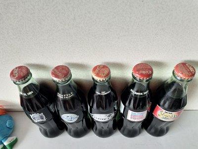 CocaCola 375ml 1994-2003 美國籃球賽特别版可口可樂玻璃樽五款