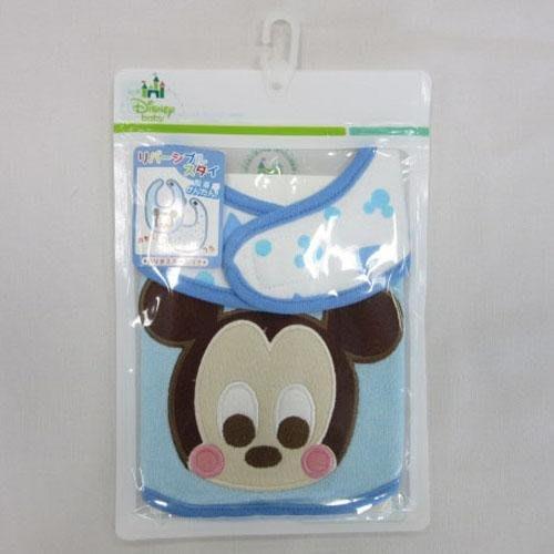 【東京速購】日本迪士尼 Baby Disney 米奇 兩面用 新生兒/嬰幼兒寶寶圍兜