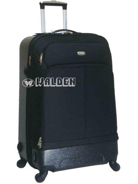 《葳爾登》法國傑尼羅特四輪25吋登機箱360度旅行箱ABS+EVA行李箱最新款式25吋8237黑色.