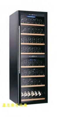 鑫忠廚房設備-餐飲設備:180瓶雙溫控紅酒櫃-賣場有西餐爐-冰箱-烤箱-工作檯-水槽