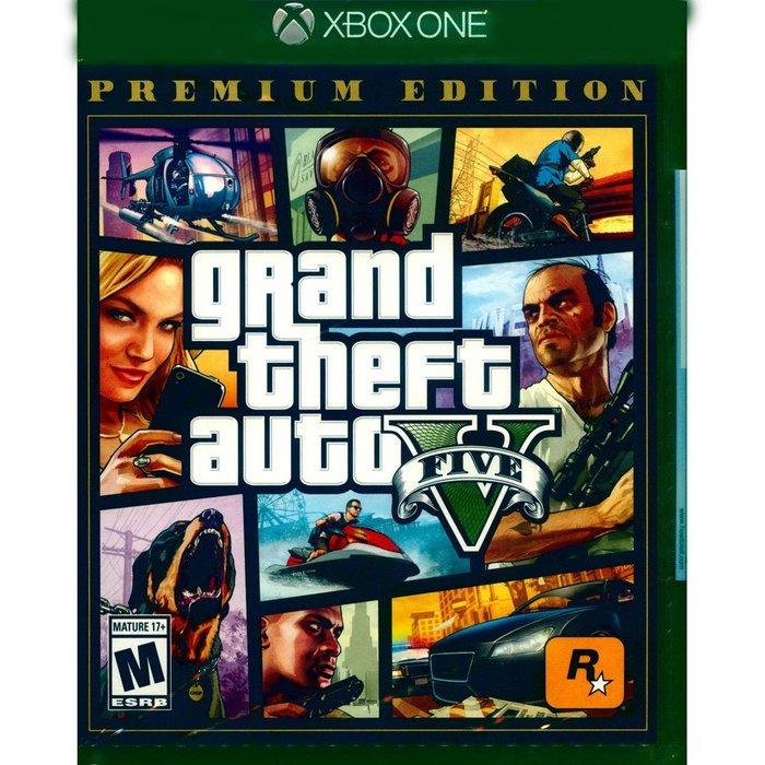 全新封膜不完美) XBOX ONE GTA5 俠盜獵車手5 豪華線上版 中英文美版 grand theft auto V