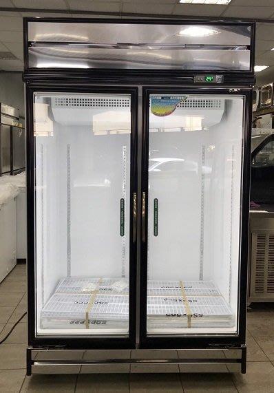 冠億冷凍家具行 台灣製瑞興冷藏展示冰箱/冷藏冰箱/玻璃冰箱/雙門冰箱/黑框版本