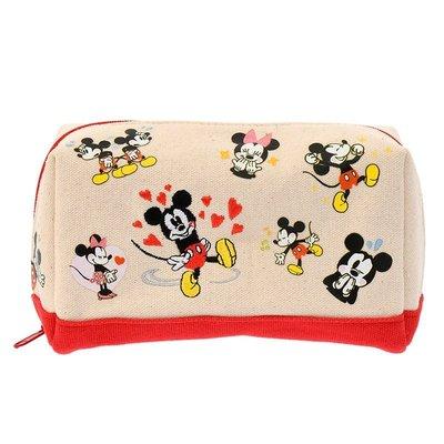 。Melissa in JP。Disney store 迪士尼米奇米妮帆布收納包化妝包