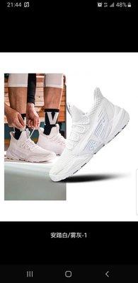 【益本萬利】【益本萬利】ANTA安踏籃球鞋男鞋 官網正品2020夏季新款網面 透氣休閒運動鞋戰靴 超耐磨底 霸 還買NIKE 的嗎 全白 全黑都有 白色現貨