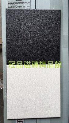 ◎冠品磁磚精品館◎義大利進口精品-止滑顆粒地磚黑及白 –20X20 CM