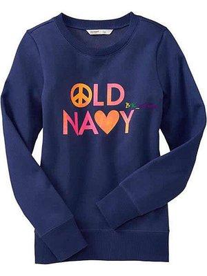 【美衣大鋪】☆ OLD NAVY 正品☆Logo Pullover Sweatshirts 上衣