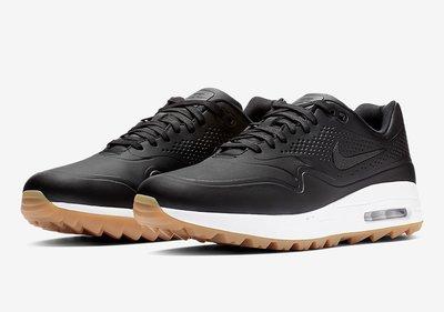 藍鯨高爾夫  19年新款Nike Air Max 1G 男高爾夫球鞋 #AQ0863-001/黑色